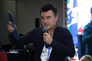 O Diretor Jurídico e de Benefícios da JUSPREV, Marcio Gheller, em palestra realizada na Convenção Nacional da ANFIP.