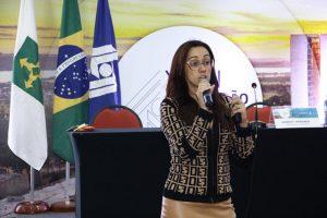 Carolina Dutra, consultora previdenciária da JUSPREV, durante a Convenção da ANFIP